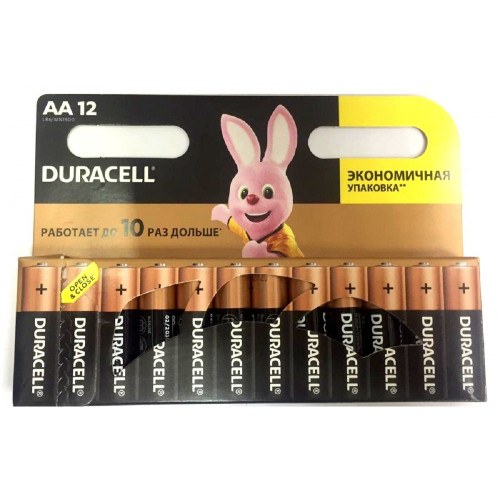 батарейки DURACELL AA R06 BL12 ALKALINE