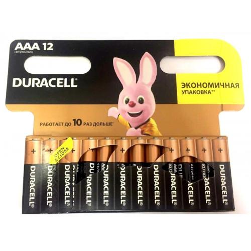 батарейки DURACELL AAA R03 BL12  ALKALINE