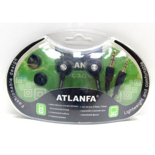 наушники+2 штекера+насадки ATLANFA AT-3095