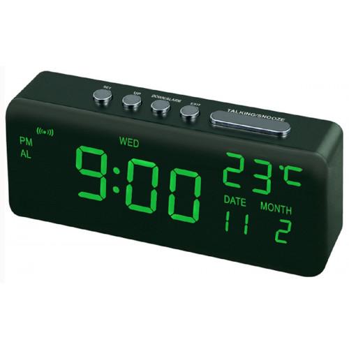 часы настольные+дата+температура VST-762W/4 (ярко-зеленый) 1 сорт