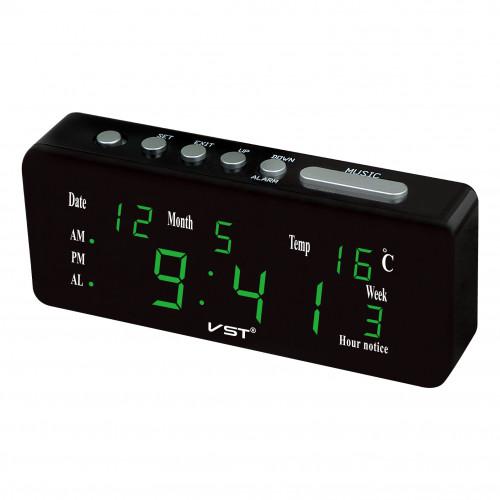 часы настольные+дата+температура VST-762WX/4 (ярко-зеленый) 1 сорт