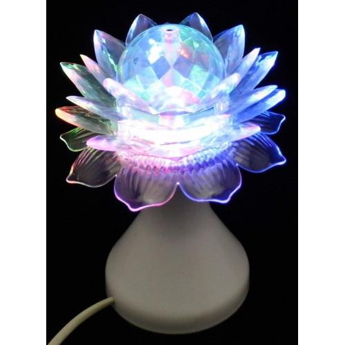 диско лампа Full color цветок