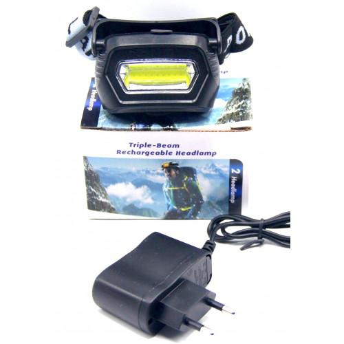 фонарик налобный+аккумулятор+зарядка от сети MX-657-COB