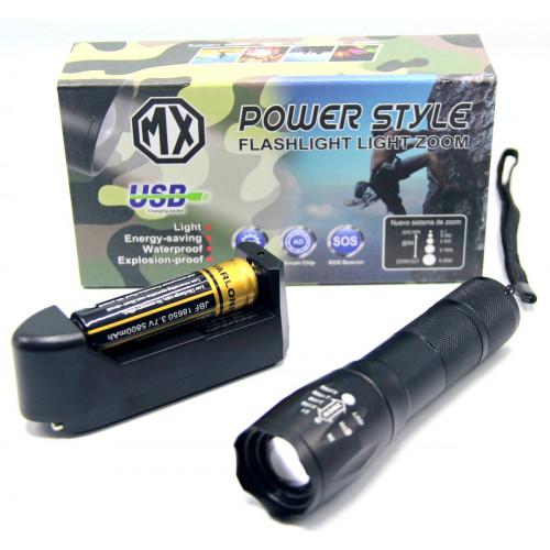 фонарик POLICE+аккумулятор+зарядка от сети+ZOOM MX-812
