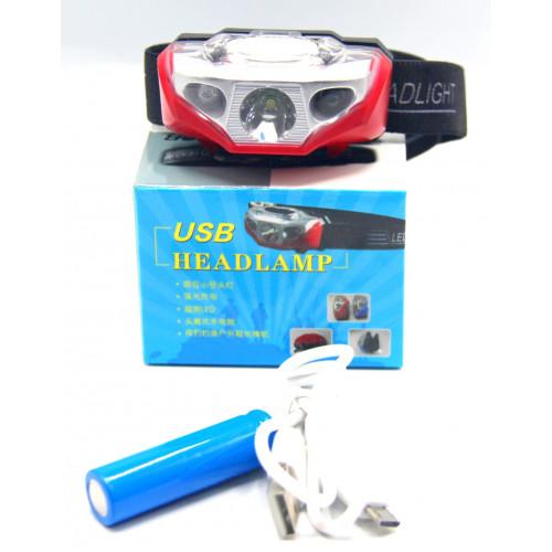 фонарик налобный+аккумулятор+зарядка Micro MX-906-1