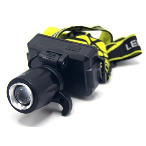 фонарик налобный металлический+аккумулятор+зарядка Micro+ZOOM+3 режима MX-W2-1 T6