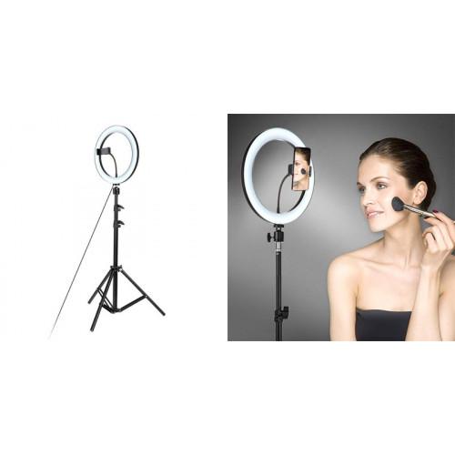 Кольцевая светодиодная LED лампа 33 см с пультом Ring Fill Light для профессиональной фото/видео съемки и селфи гор/холод