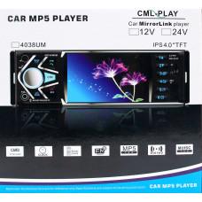 автомагнитола 4,1 дюйм+MP5+Bluetooth+USB+AUX+радио 4038UM