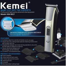 машинка для стрижки волос+доп.аккумулятор+сменные насадки Kemei KM-5017