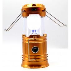 фонарик лампа зарядка от сети солнечная зарядка USB 3 режима CL-5800T