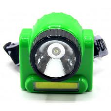 фонарик налобный+аккумулятор+зарядка от сети+3 режима LP-308