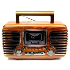 радиоприемник Ретро KEMAI Bluetooth USB SD аккумулятор MD-101BT
