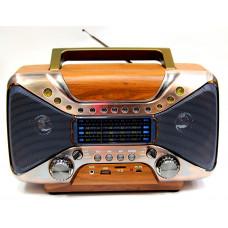 радиоприемник Ретро KEMAI Bluetooth USB SD аккумулятор MD-102BT