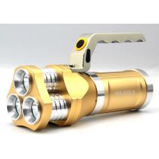 фонарик металлический+аккумулятор+зарядка от сети+авто+3 режима MX-633
