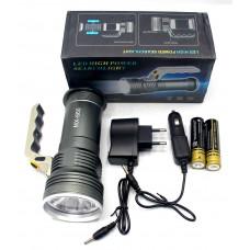 фонарик металлический+аккумулятор+зарядка от сети+авто+ZOOM+3 режима MX-660