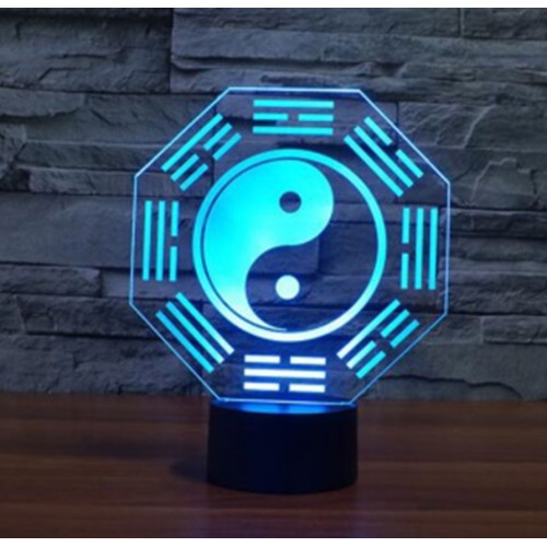 3D ночник Инь янь (3 режима) 1102