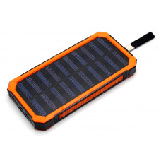 зарядка портативная Power Bank 2USB солнечная батарея фонарик CL02 20000 mAh
