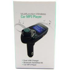 FM модулятор+Bluetooth+2USB+AUX T11