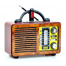 радиоприемник Ретро PuXing Bluetooth USB SD аккумулятор PX-P28BT (fm-64)