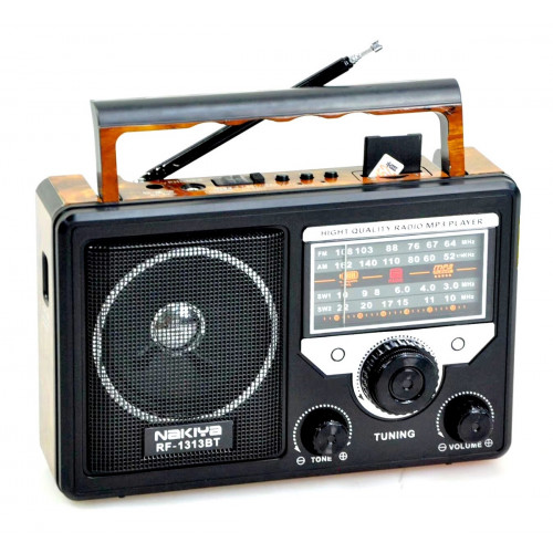 радиоприемник NAKIYA+Bluetooth+USB+SD+аккумулятор RF-1313BT=AT-816