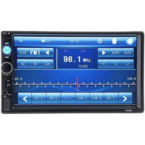 автомагнитола 2 DIN сенсорный экран MP5 Bluetooth USB AUX радио 7010B