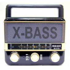 радиоприемник Meier USB SD цветомузыка аккумулятор M-U123