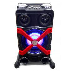 колонка чемодан 54см+Bluetooth+USB+FM+2 микрофона+эквалайзер+светомузыка+аккум SP-K122