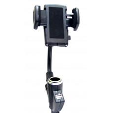 держатель для телефона 2 USB разветвитель HC003