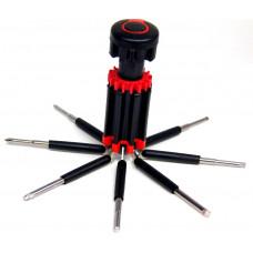 фонарик набор отверток 8в1 ET-802