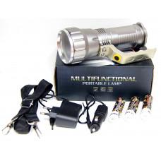 фонарик металлический+аккумулятор+зарядка от сети+авто+ZOOM+3 режима MX-1818-T6