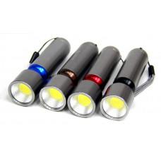 фонарик металлический MX-801 COB