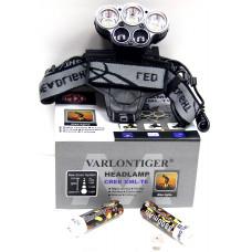 фонарик налобный металлический+аккумулятор+зарядка Micro+6 режима MX-K85-T6