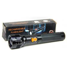 фонарик металлический+аккумулятор+зарядка от USB+ZOOM+3 режима MX-Y02