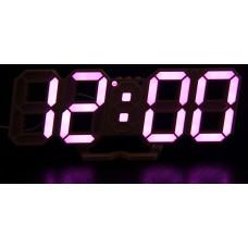 часы настольные+дата+температура VST-883/7 (фиолетовый) 1 сорт