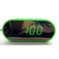 часы настольные зеркальные VST-712Y/4 (ярко-зеленый) 1 сорт