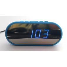 часы настольные зеркальные VST-712Y/5 (ярко-синий) 1 сорт