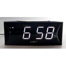 часы настольные говорящие VST-719T/6 (белый) 1 сорт