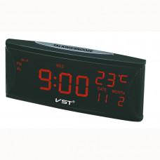 часы настольные+дата+термометр VST-719W/1 (красный) 1 сорт