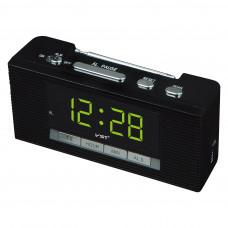 часы настольные+радио VST-740/2 (зеленый) 1 сорт