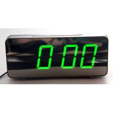 часы настольные зеркальные VST-763Y/4 (ярко-зеленый) 1 сорт