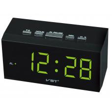 часы настольные VST-772/2 (зеленый) 1 сорт