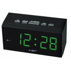 часы настольные VST-772/4 (ярко-зеленый) 1 сорт