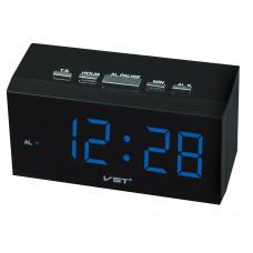 часы настольные VST-772/5 (ярко-синий) 1 сорт