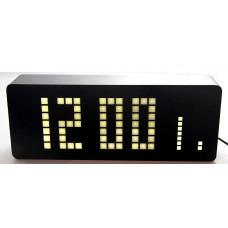 часы (деревянные)+дата+температура+секундомер VST-870/6 (белый) 1 сорт