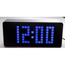 часы (деревянные)+дата+температура+секундомер VST-871/5 (ярко-синий) 1 сорт