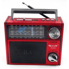 радиоприемник GOLON USB SD фонарик аккумулятор RX-201
