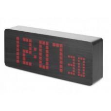 часы (деревянные)+дата+температура+секундомер VST-870/1 (красный) 1 сорт