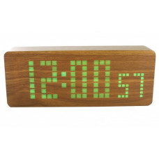 часы (деревянные)+дата+температура+секундомер VST-870/4 (ярко-зеленый) 1 сорт