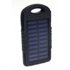 зарядка портативная Power Bank+2USB+солнечная батарея+фонарик EK-12 12000 mAh