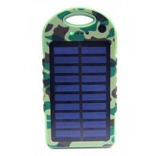 зарядка портативная Power Bank+2USB+солнечная батарея+фонарик EK-7 25000 mAh